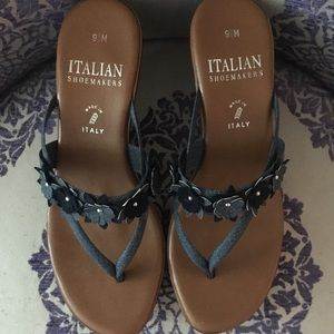 Italian Shoemakers Denim Flip Flop Sandal